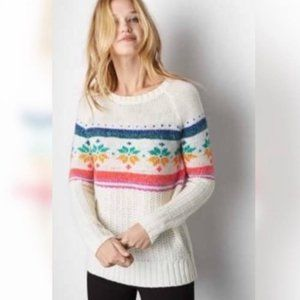 American Eagle Jegging Sweater with Colorful Snowflakes SZ S/P